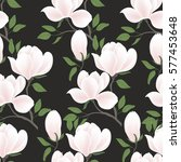 seamless floral background.... | Shutterstock .eps vector #577453648
