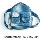 Denim Backpack Isolated On...