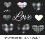 set of stickers love and heart. ... | Shutterstock .eps vector #577460374