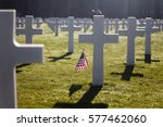 american flag waving next to a... | Shutterstock . vector #577462060