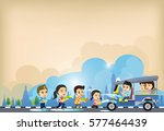 songkran festival  cartoon... | Shutterstock .eps vector #577464439
