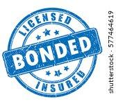 licensed bonded insured rubber... | Shutterstock .eps vector #577464619