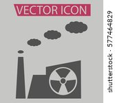 factory icon isolated sign...