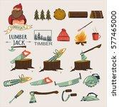 lumberjack  timber and...   Shutterstock .eps vector #577465000
