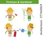 occupations cartoon character... | Shutterstock .eps vector #577465819
