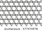 silver rings background   render | Shutterstock . vector #577474978