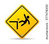 falling danger vector sign on... | Shutterstock .eps vector #577478350