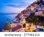 positano  amalfi coast ...   Shutterstock . vector #577481113
