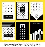 minimal set posters design for... | Shutterstock .eps vector #577485754