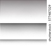 set of halftone texture for...   Shutterstock .eps vector #577487329