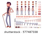 Smart casual male character creation set. Build your own design. Cartoon flat-style infographic illustration | Shutterstock vector #577487338