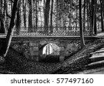 Old Stone Bridge With Metal...