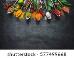 various herbs and spices on