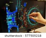 engineer working on mechanichal ... | Shutterstock . vector #577505218