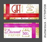 gift voucher template. can be... | Shutterstock .eps vector #577509208