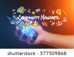 concept view of man holding...   Shutterstock . vector #577509868