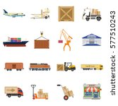 cargo transport  packaging ...   Shutterstock .eps vector #577510243