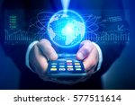 view of a trading data...   Shutterstock . vector #577511614