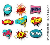 positive collection set... | Shutterstock .eps vector #577513144