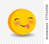 cute funny smile playful face.... | Shutterstock .eps vector #577514530