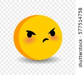 cute funny smile angry face.... | Shutterstock .eps vector #577514758