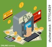online banking flat 3d...   Shutterstock .eps vector #577514839