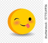 cute funny smile jolly face...   Shutterstock .eps vector #577514956