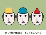 opinion diversity  people... | Shutterstock .eps vector #577517248