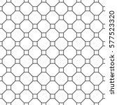repeated white figures on black ... | Shutterstock .eps vector #577523320