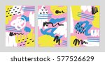 artistic brush pattern set.... | Shutterstock .eps vector #577526629