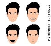set of men portraits on a white ... | Shutterstock .eps vector #577530328