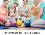 young women in mother and child ... | Shutterstock . vector #577533808