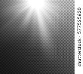 sun rays on transparent... | Shutterstock .eps vector #577535620