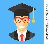 smiling graduate student... | Shutterstock .eps vector #577535770