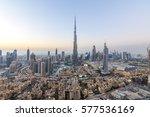 dubai  uae   november 14  burj... | Shutterstock . vector #577536169
