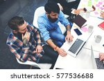 male skilled marketers research ... | Shutterstock . vector #577536688