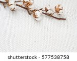 white knitted fabric background ... | Shutterstock . vector #577538758