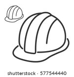 construction safety helmet line ... | Shutterstock .eps vector #577544440