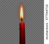 candle realistic with... | Shutterstock .eps vector #577544710