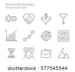 partnership business start up ... | Shutterstock .eps vector #577545544
