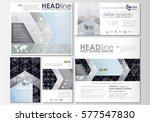 social media posts set.... | Shutterstock .eps vector #577547830