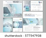 social media posts set.... | Shutterstock .eps vector #577547938