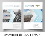 business templates for brochure ... | Shutterstock .eps vector #577547974