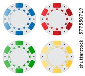 various colors of casino chips | Shutterstock . vector #577550719