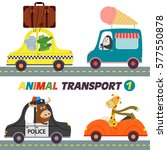 set of isolated transports with ... | Shutterstock .eps vector #577550878