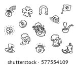 saint patrick's day sticker...   Shutterstock .eps vector #577554109