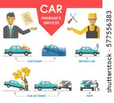 car insurance services help... | Shutterstock .eps vector #577556383