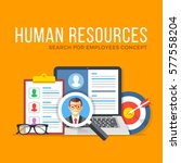 human resources. search for... | Shutterstock .eps vector #577558204