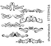 decorative monograms and... | Shutterstock .eps vector #577559416