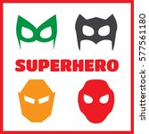 super hero masks set. superhero ... | Shutterstock . vector #577561180